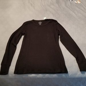 New* Black Old Navy Thermal Knit Top For Women